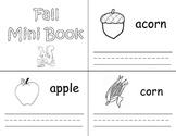 Fall Vocabulary Mini Book Trace and Write