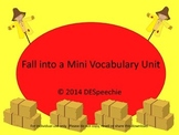 Fall Vocabulary Mini Unit