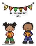 Fall Vocabulary Pack {American Sign Language}