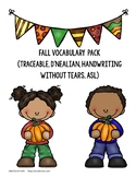 Fall Vocabulary Pack {Complete}