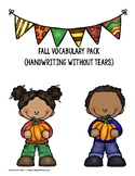 Fall Vocabulary Pack {Handwriting Without Tears}