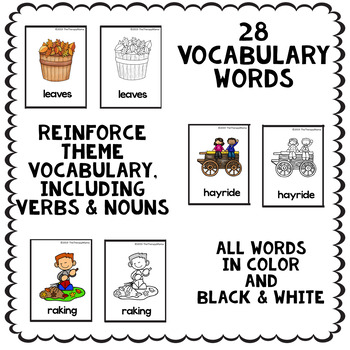 Fall Vocabulary Picture Word Wall Cards