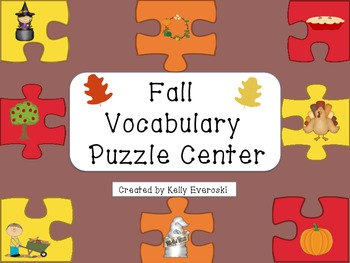 Fall Vocabulary Puzzle Center