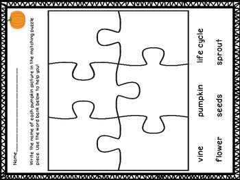 Fall Vocabulary Puzzle Center