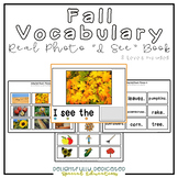 "Fall Vocabulary Real Photo ""I See"" Book for Special Education Classrooms"