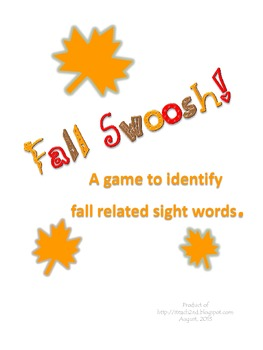 Fall Vocabulary SWOOSH game