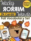 Fall Vocabulary {Wacky Mirror Words}