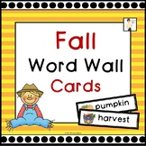 Fall Vocabulary Word Wall Cards