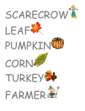 Fall Vocabulary Words