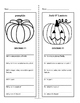 Fall Vocabulary Worksheets