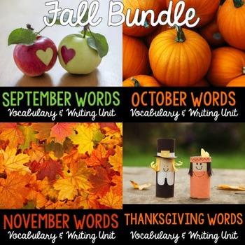 Fall Vocabulary and Writing BUNDLE