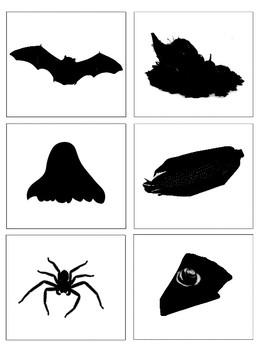 Fall Vocabulary and Silhouette Match--Montessori Matching Activity