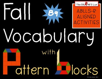 Fall Vocabulary with Pattern Blocks