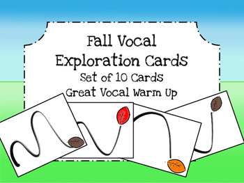 Fall Vocal Exploration Packet