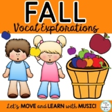 Vocal Explorations : Fall Themed, Animated, Worksheets K-3
