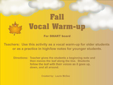 Fall Vocal Warm-up