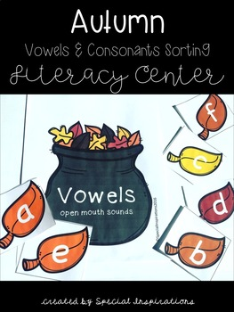 Fall Vowels and Consonants Centers Bundle (Orton-Gillingham Inspired)