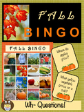 Fall WH Question Bingo (2 Ways to Play)