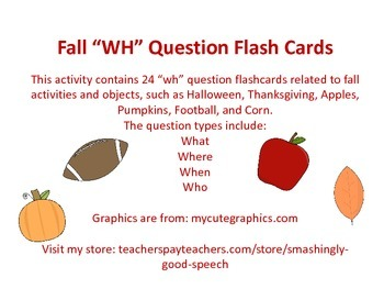 """Fall """"WH"""" Question Flashcards"""