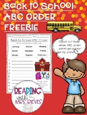 Back to School Warm-Up Freebie