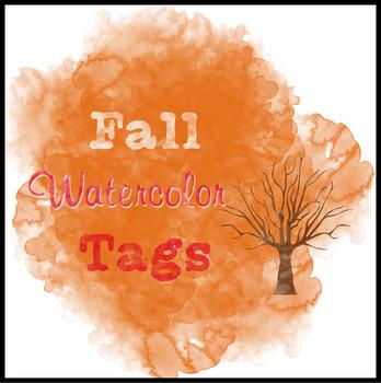 Fall Watercolor Tags