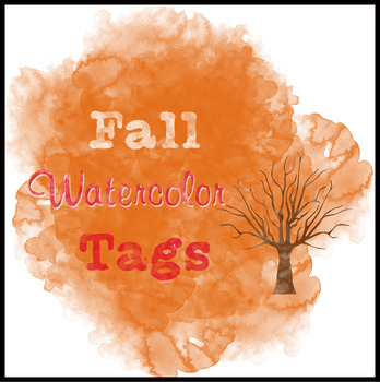 Fall Watercolor Tags