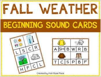 Fall Weather Beginning Sound Cards