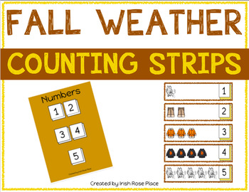 Fall Weather Counting Strips