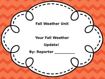 Fall Weather Cross-Curricular Unit
