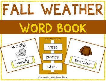 Fall Weather Leveled Word Books (Adapted Books)