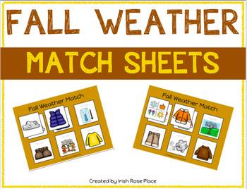 Fall Weather Match Sheets