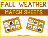 Fall Weather Match Sheets