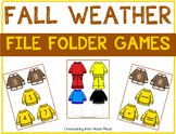 Fall Weather Math File Folders