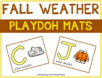Fall Weather Playdoh Mats
