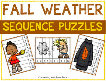 Fall Weather Sequence Puzzles