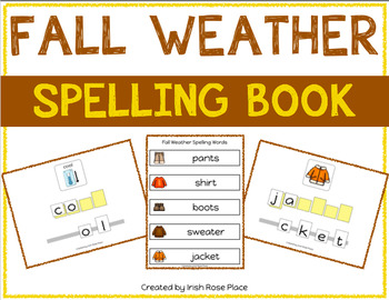 Fall Weather Spelling Books (Adapted Book)