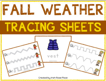 Fall Weather Tracing Sheets