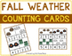 Fall Weather and Clothing Math Bundle with Adapted Books