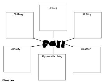 Fall Web Graphic Organizer