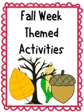 Fall Week Themed Activity Pack