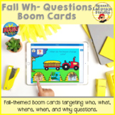 Fall Wh- Questions Boom Cards for Distance Learning