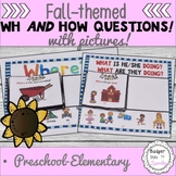 Wh Questions with Picture Choices for Fall Speech Therapy
