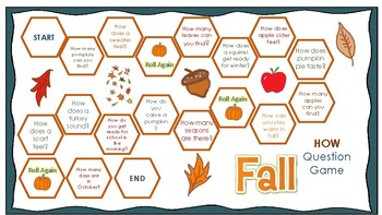Fall Wh-questions Board Games