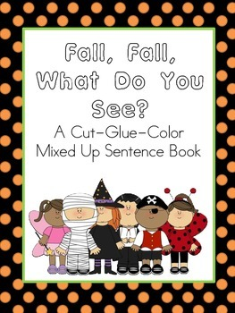 Fall What Do You See Mixed Up Sentence Book