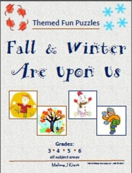 Fall & Winter Are Upon Us - Fun Themed Puzzles & Writing Prompts
