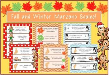 Fall, Winter & Christmas Marzano Scales