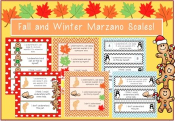 Fall, Winter & Christmas Marzano Scales
