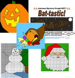Fall Winter Ordered Pairs Pack Bundle Halloween Thanksgiving Christmas