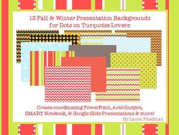 Fall & Winter Presentation Backgrounds for Dots on Turquoise Lovers