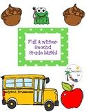 Fall & Winter Second Grade Math
